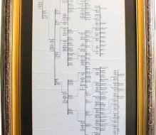 Family tree of the writer, going back to 1881, produced by Edson da Costa Lins Júnior