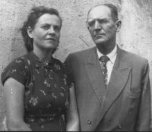 His father, Teóphanes, and Eulália, his beloved stepmother, in the 23rd year of their marriage - Vitória, 25 August 1952